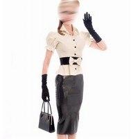 Модные женские туфли Костюмы комплект латексный куртка резиновый юбки Фетиш рубашки с поясом Гамми 0,4 мм плюс Размеры настроить