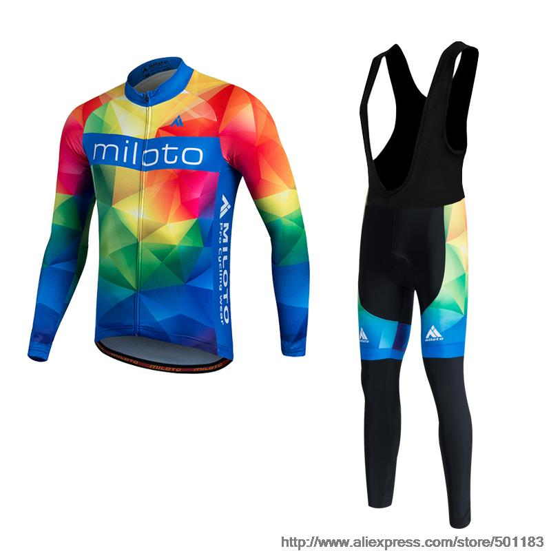 MILOTO Winter Thermal Fleece Cycling Jersey Warm Ropa Ciclismo  Shirt MTB Long Sleeve Bicycle Clothing Bicicletta indossi