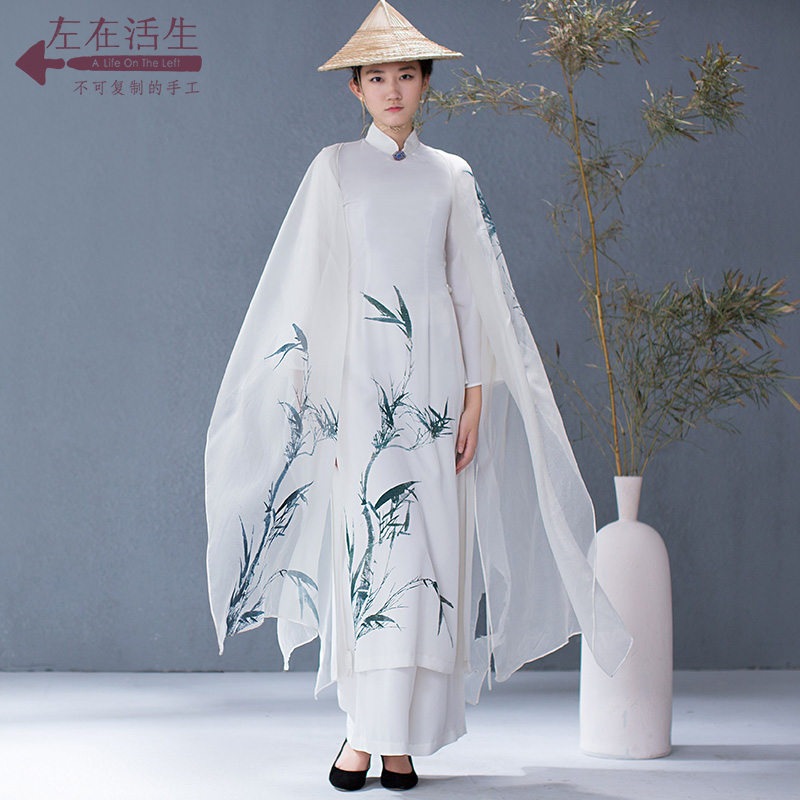 Life In The Left Spring Elegant Print Half Sleeve Silk blouse Women Natural Silk 2018 Flattering Fairy Style blouses
