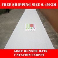 Free Shipping Pure White All Size Cheap Wedding Aisle VIP Carpet Runner For Church Stage Hall