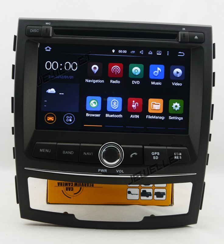 Octa core IPS screen Android 9.0 Car DVD GPS radio Navigation for Ssangyong Korando,New Actyon 2011-2013 image