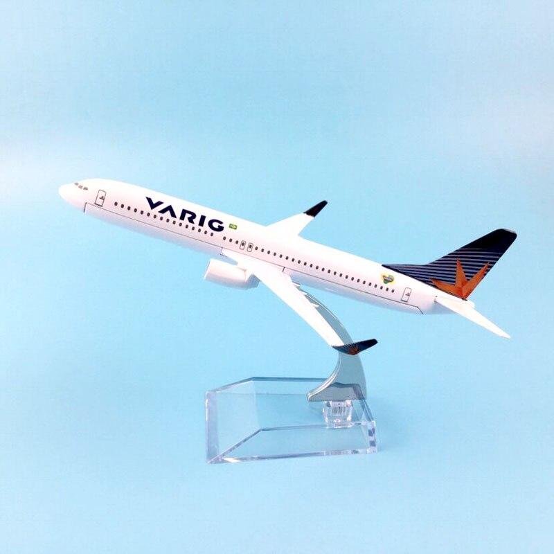 BRAZIL VARIG AIRLINES B737-800 16cm Metal Airplane Birthday Gift Plane Models Toys For Children Free Shipping