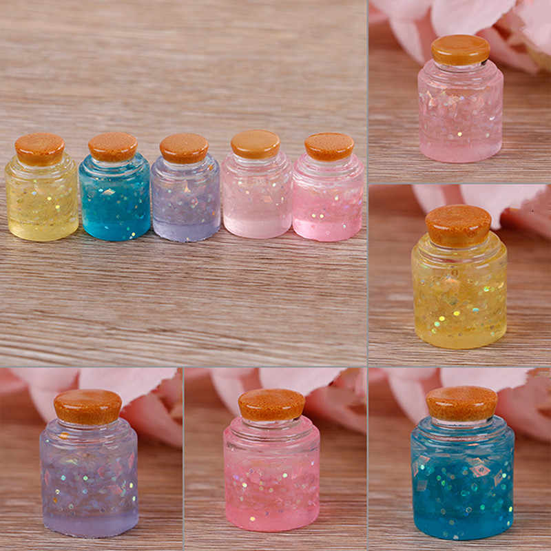 1pcs Star Glass Bottle Filler For Clear/Fluffy Mud Box Kids Slime DIY Kit Accessories Modeling Clay Popular Children Toys