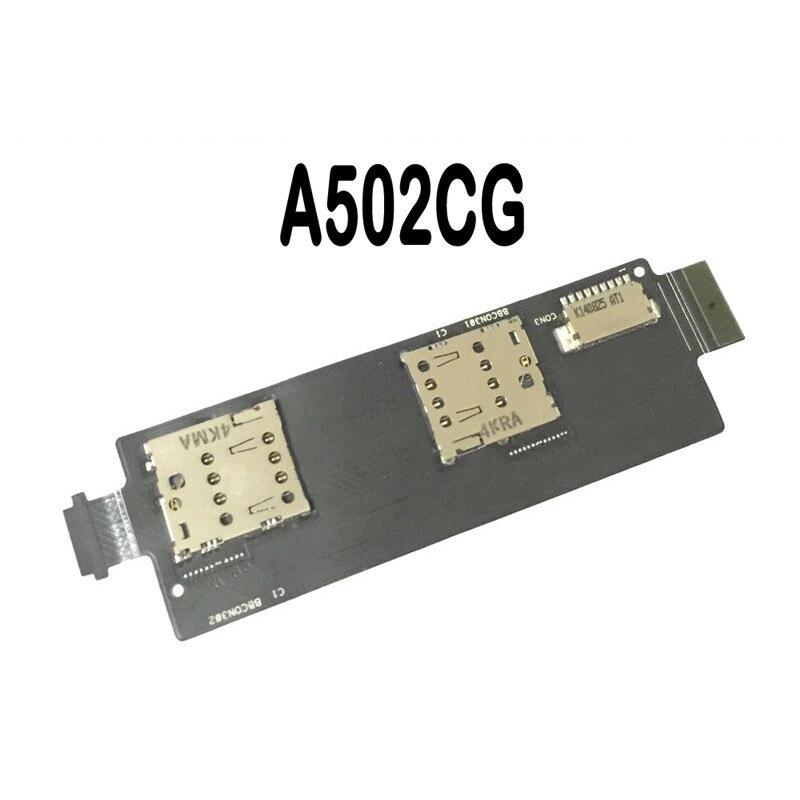 100% Nouvelle Carte Sim Fente de Support Socket Lecteur Flex Câble pour Asus Zenfone 5 Lite A502CG Sim Connecteur Slot Flex câble