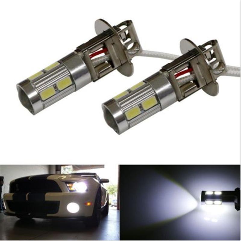 Brand New 1Pcs Super White  High Beam H3 10SMD 5730 Car LED Fog white Light Bulb for Cars Free Shipping