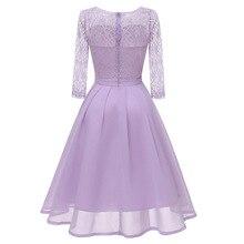 Pleated Chiffon Purple Lace Women Dresses