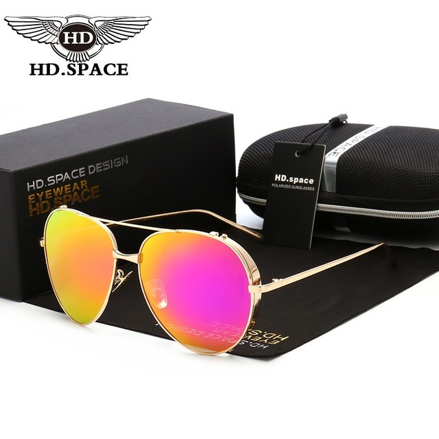 8fe196ab75b96 HD Classic Mirror Polarized Sunglasses Men Women Frog Coating Eyewear  Hipster Street Snap Gafas Dazzle Color