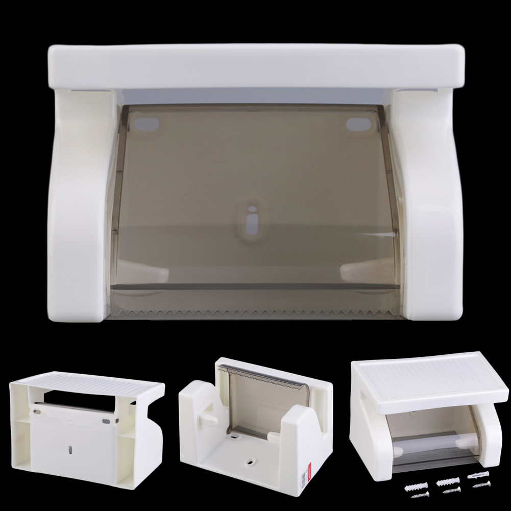цены Waterproof Toilet Paper Holder Tissue Holder Roll Paper Holder Box Durable Bathroom Accessories Wall Mounted Plastic