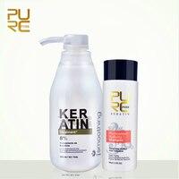 2pcs Set PURC 8 Brazil Keratin Treatment 300ml 100ml Purifying Shampoo Make Hair Straightening Hair Care