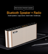 лучшая цена Q8 Bluetooth Speaker Portable Wireless Handsfree Pocket Audio Speaker Subwoofer HiFi Led Display Speaker with Mic