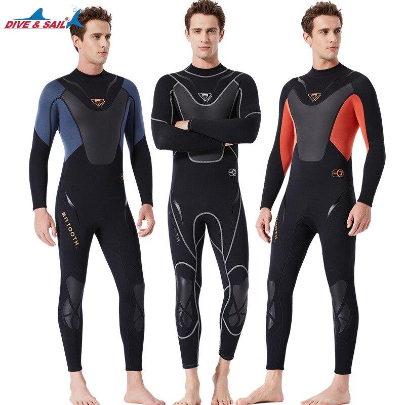 Plongée & voile hommes combinaison néoprène 3mm combinaison de surf maillot de bain une pièce plongée sous-marine plongée en apnée sous-marine combinaison humide