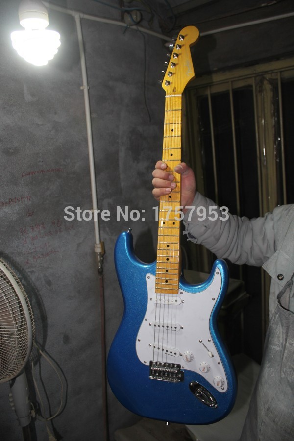 Factory custom shop 2017 Newest Custom Vintage blue ST electric guitar Free shipping (HAI 4  stratocaster стоимость