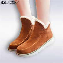 2017 Autumn Winter women boots super warm with fur snow boots shoes for woman Waterproof Platforms ankle boots Plus Size 34-43 2017 new fashion autumn winter genuine leather women ankle boots brand quality black woman shoes snow boots plus size 34 43