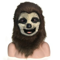 Sloth real animal face masks wholesale handmade custom animal mask for party