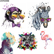 ZOTOONE Ink Painting Animals Patches for Clothing Patch Applications Iron on Heat Transfer Applique Clothes Thermo Stickers E