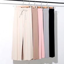 Women's Leggings Chiffon High Waist Leggings 2019 New Thin Section Loose Nine Points Leggings Large Size Women's Casual Pants