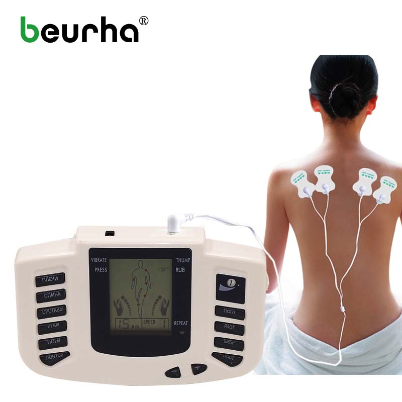 Digital Tens Acupuncture Slimming Massager Electric Acupuncture Body Massager 16 Electrode Pads Relax Muscle Therapy Massage 2 pcs electrical digital slimming acupuncture massager relieve muscle pain therapy machine with 4pcs electrode pads for tens