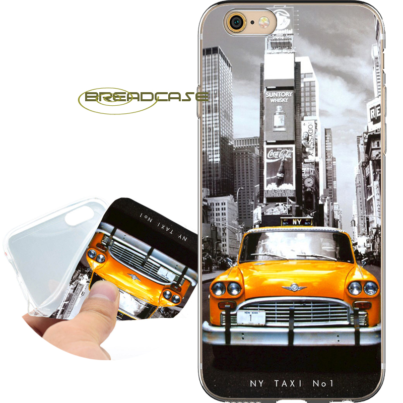 Fundas NEW YORK MY TAXI NO.1 Soft Clear TPU Silicone Phone Cases for iPhone X 8 7 6S 6 Plus 5S