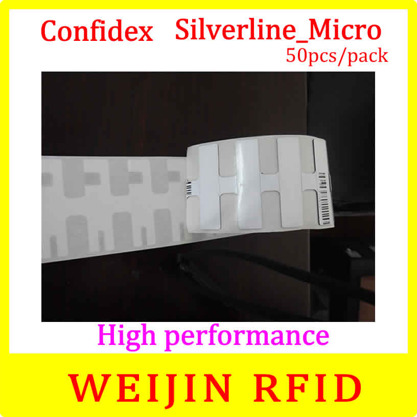 ФОТО Confidex Silverline micro UHF RFID tag 50pcs per pack 915M EPC surface can be printed free shipping.