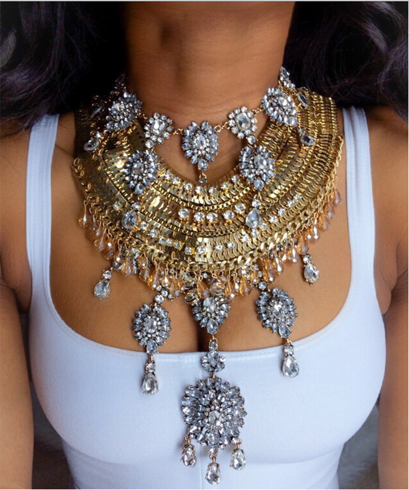 d3731192320 Dvacaman 2016 Facebook Summer Sexy Vintage Luxury Chain Femme Boho Maxi  Bijoux Statement Necklace 8629