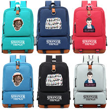 Stranger Things Alphabet Riverdale Boy Girl Children School bag Women Bagpack Teenagers Schoolbags Canvas Men Student Backpack(China)