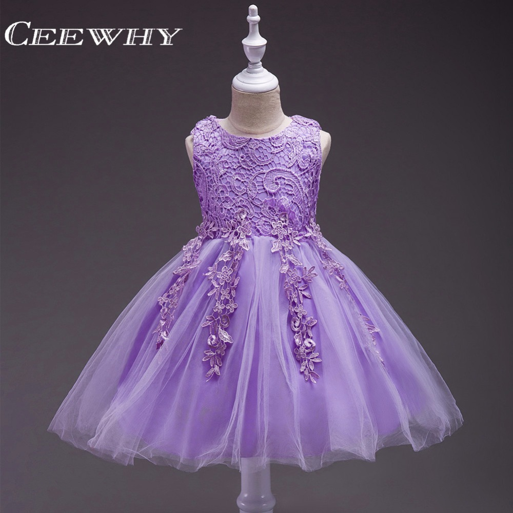 CEEWHY Embroidery Princess   Girls     Dress   Lovely Primera Communion Bow Abiti Comunione Bambina   Flower     Girl     Dresses   Formal   Dress