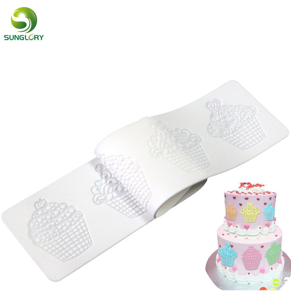DIY Icecream Silicone Baking Mat Silicone Mat Cake Sugar Lace Mold Wedding Decorative Silicone lace Mat Molds For Baking Kitchen