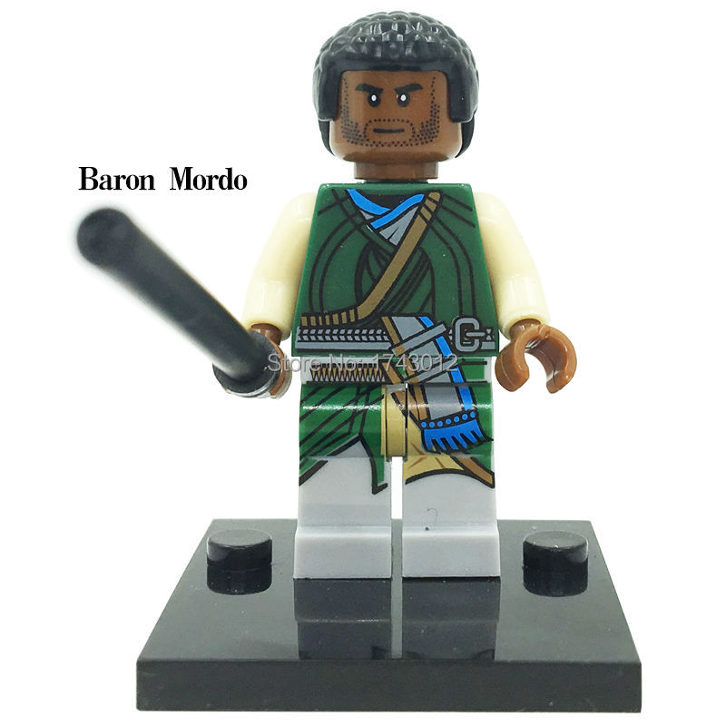 30Pcs XH 367 Super Heroes Baron Mordo Black Bolt Doctor Strange Bricks Assemble Building Blocks Education Toys For Children Gift