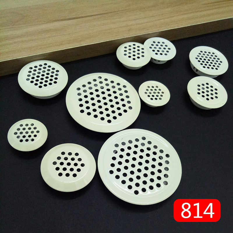 4pcs Dia.19mm/25mm/30mm/35mm/53mm Cabinet Air Vent Duct Grill Louver Mesh Hole Stainless Steel Flat Surface Convex Surface