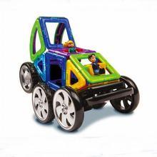 16 Unids/lote Imán Diseñador Bloque de Construcción Modelo Con Muñecas de Coches de Juguete De Plástico Bloques de Construcción Magnética Juguetes Para Niños Kids
