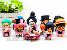Free Shipping 5-7cm, Japanese One Piece After 2 Years PVC Action Figure, tea lunch, Collection Model Toy (9pcs per set)