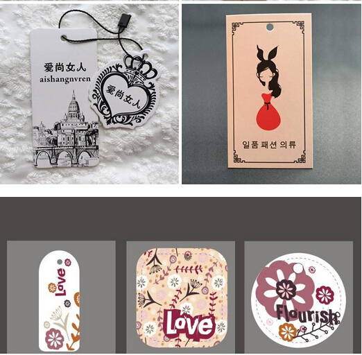 US $56 0 |Personalized OEM swing tag for clothing full color printing hang  tags/custom hang tag printing/hang tag manufacturers-in Garment Tags from