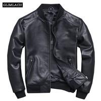 Black Aviation Genuine Leather Bomber Jacket Men Pilot Sheepskin Real Leather Jacket Slim Large Size 5XL Coats Veste Cuir Homme