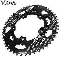 VXM Road Bicycle Chainwheel Kit Dual Oval Chainring 110BCD 50T/35T 7075 T6 Alloy for 700C Road Bike Bicycle Crank Bicycle Parts