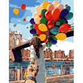 Multicolored Balloons Diy Digital Painting Hand Painted On Canvas Unique Gift For Lover Oil Painting By Numbers Wall Art E510