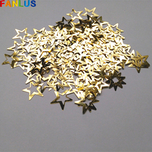 1000pcs/bag Gold Metallic Hollow Stars Confettis For Wedding Party Decoration di