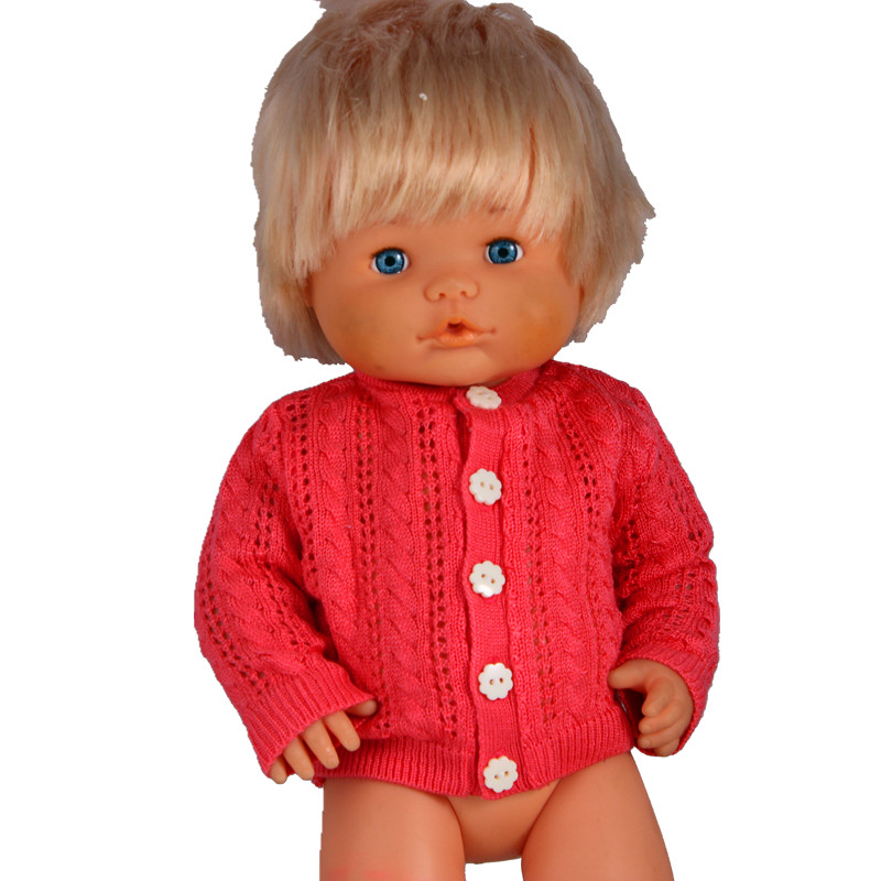 41 Cm Nenuco Doll Clothes And Accessories Nenuco Ropa Y Su Hermanita High Quality Watermelon Red Knit Sweater For 16inch Nenucos