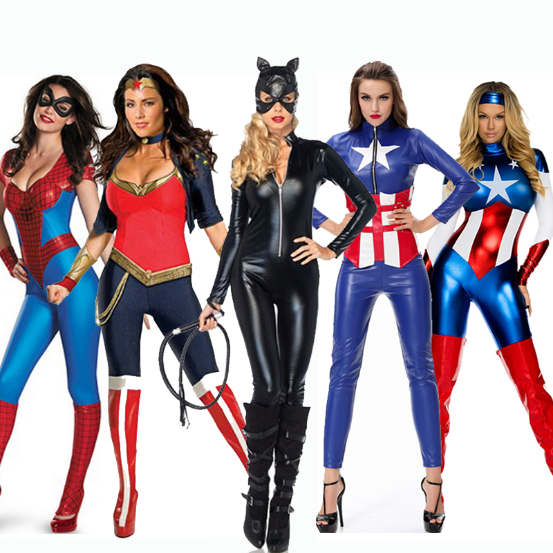 Comprar disfraces de CatWoman, Spiderwoman, Capitana América,... y más