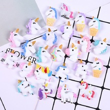 10Pcs Mixed Unicorn DIY Accessories For SLIME Fillers Mobile Phone Shell Decoration