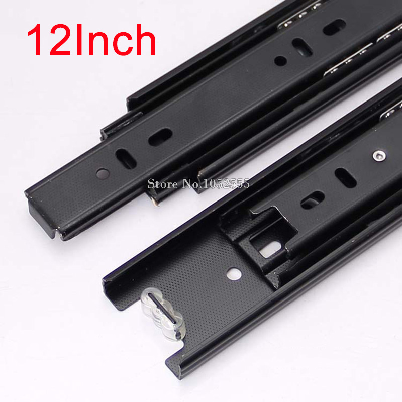 High Quality Portable 3 Fold Telescopic Fully Extension 300mm Drawer Runner Slides Rail Heavy Duty Furniture Hardware K178/3 premintehdw under mount single extension drawer slide soft close 3 4 extension 2 fold pin fixing dtc