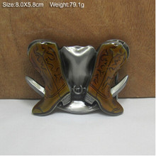 Retail New Style cool Western Boots males's Belt Buckles 80*58mm 79.1g Metal Fit 4cm Wide Belt style luxurious Jeans equipment