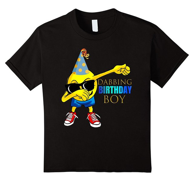 COOL DABBING Emoji Birthday Shirt For Boys Gift Idea T Shirts