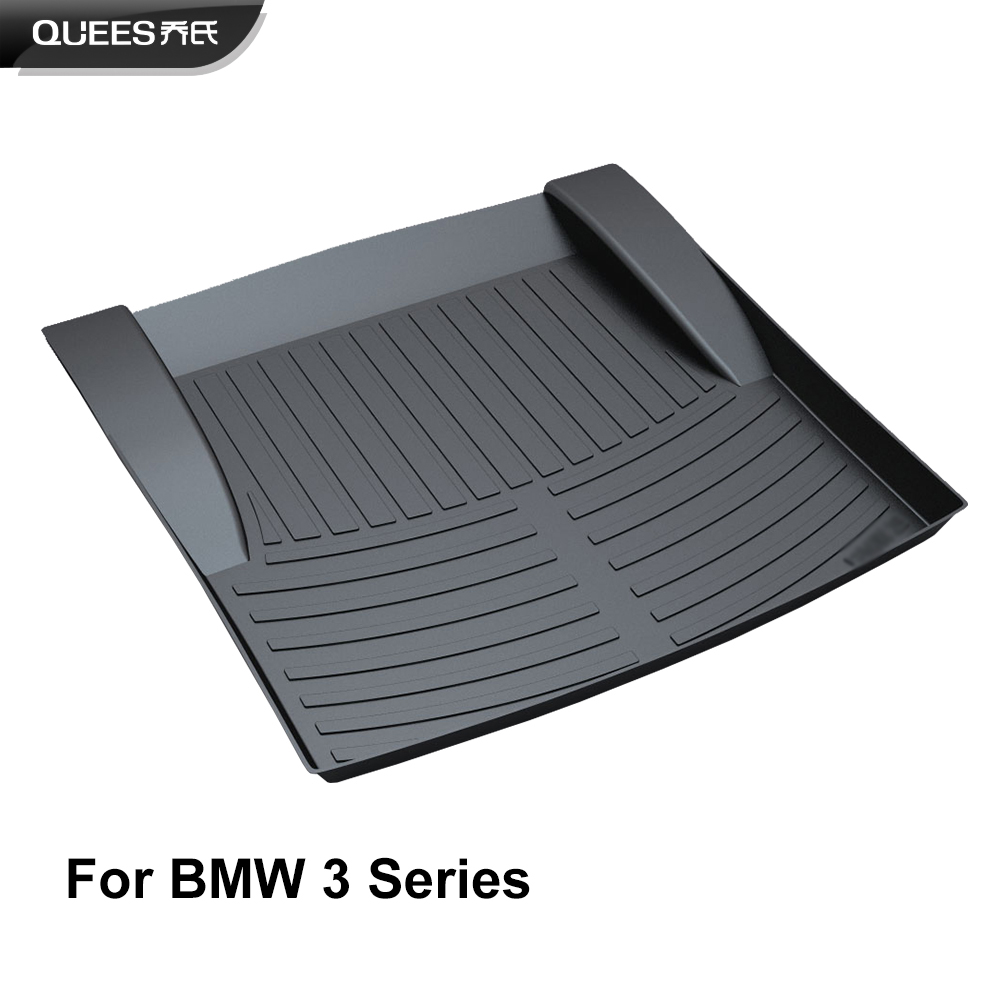 QUEES Custom Fit Cargo Liner Boot Tray Trunk Floor Mat for BMW 3 Series E90 E91