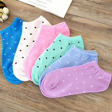 3 pair/lot Women Cotton Socks 5 Candy Colored Female Casual Sock Dot Cute Ladies Cheap Good Quality S82