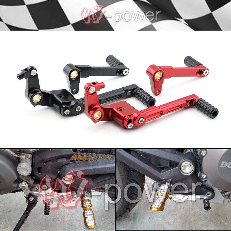 fire For DUCATI MONSTER 696 796 1100 / S Motorcycle CNC Aluminum Adjustable shift levers Shift levers & brake levers R free shipping for ducati multistrada 1200 s m1100 s evo motorcycle accessories cnc adjustable folding brake clutch levers red