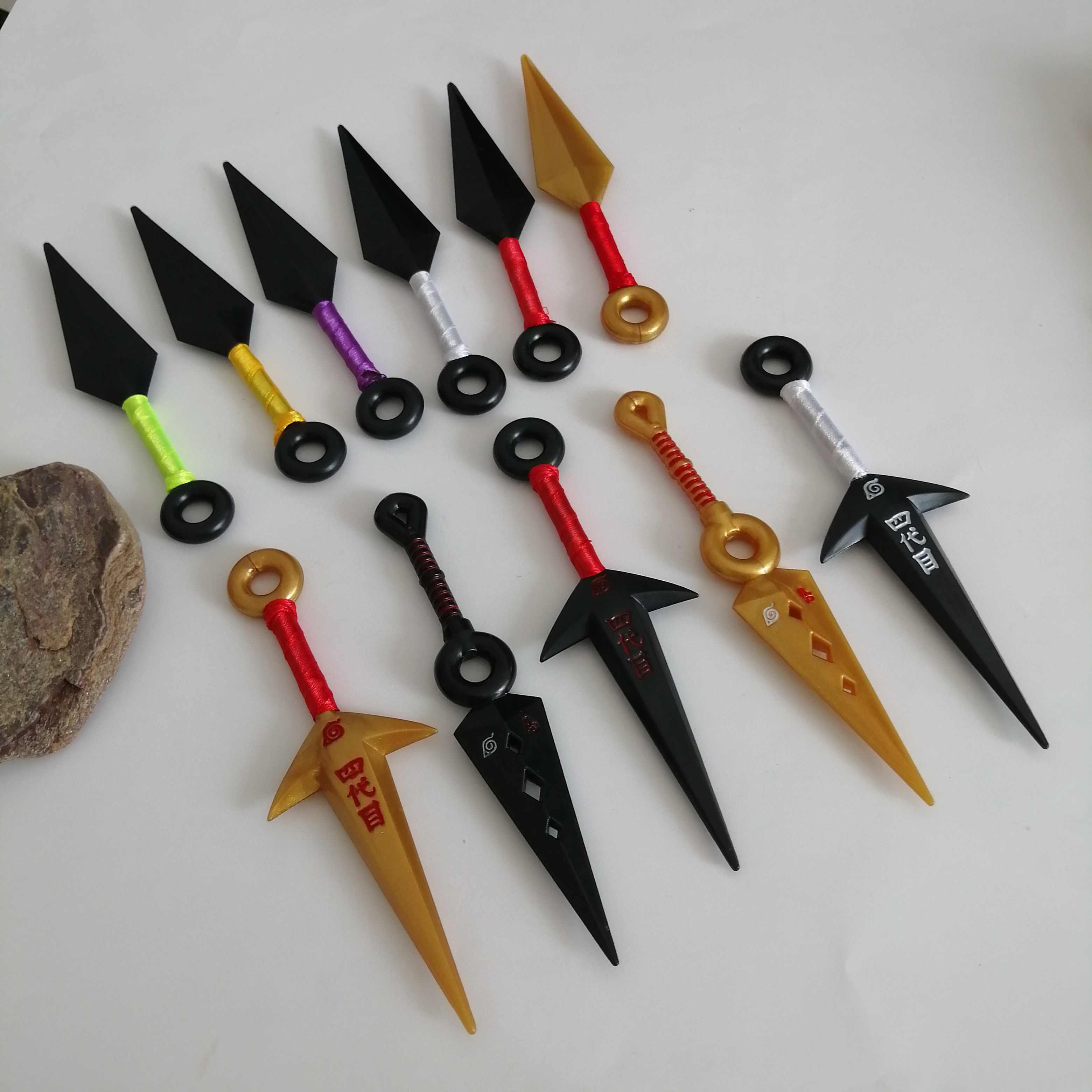 1 pcs อะนิเมะ Naruto Ninja Uzumaki Kunai Shuriken โยนอาวุธ Props คอสเพลย์ของเล่น