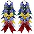 12 piezas de animadoras arco elástico bandas para el cabello de los niños de 3,5 pulgadas de animadoras arco diademas de sombreros de las mujeres las niñas accesorios para el cabello