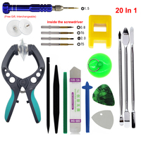 20Pcs LCD Opening Pliers Spudger Pry Tool Screwdriver Set For IPhone 4S 5 5S 6 6S