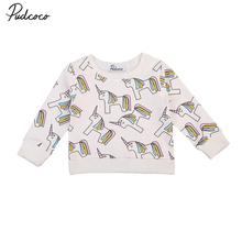 Hot Warm Unicorn Hoodies Tops Toddler Kids Baby Girls Autumn Winter Sweatshirt Tops