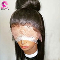 Eva Hair 250 Density 360 Lace Frontal Wigs For Black Women Body Wave Pre Plucked Natural